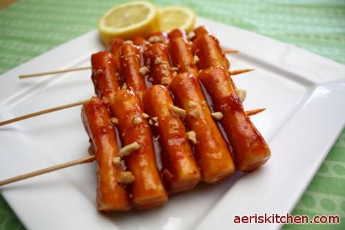 Skewered Spicy Sticky Rice Cakes – Aeri's Kitchen