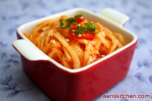 Korean pickled radish for Good side dishes to serve with a fish fry