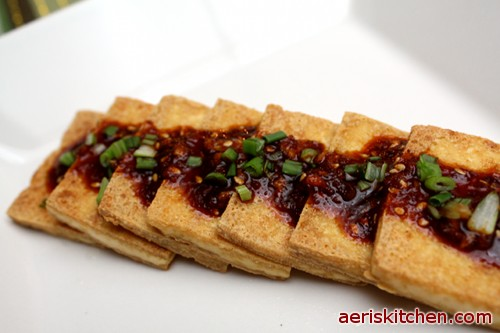 recipe is a Korean side dish made with tofu. It is simply fried tofu ...