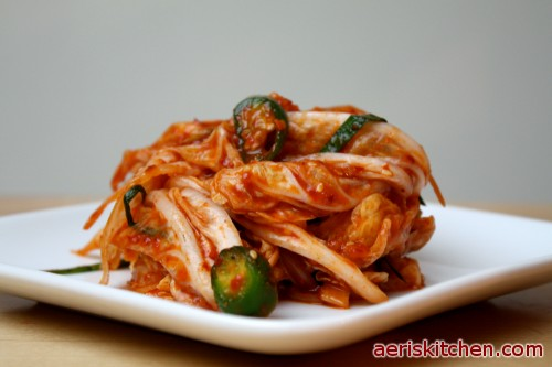 White Wrapped Kimchi With Persimmon And Dates From 'The ...
