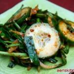 Garlic Chive & Cucumber MuChim