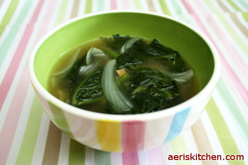 Korean Spinach Soup Korean Soybean Paste Soup