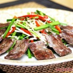 Fried Beef & Garlic Chive Salad