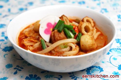 Recipe Of Korean Fish Cake: Kimchi Fishcake Udon