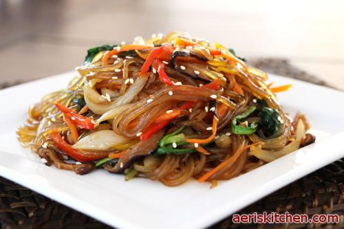 Vegetarian Japchae Aeris Kitchen