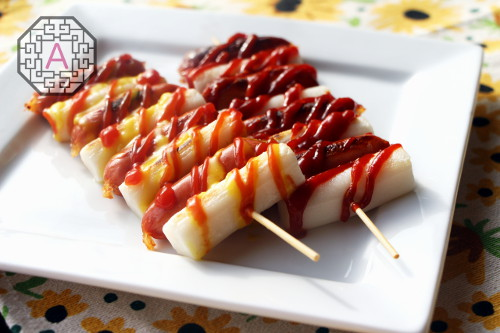 How To Make Spicy Rice Cake Skewers